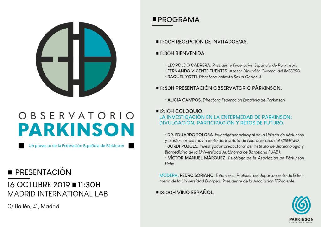 Programa evento presentación observatorio